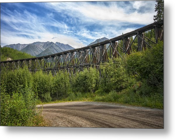 Gilahina Railroad Trestle Metal Print