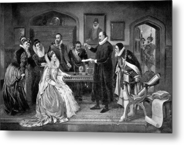 Gilbert Shows Electricity To Elizabeth I Metal Print by Science Photo Library