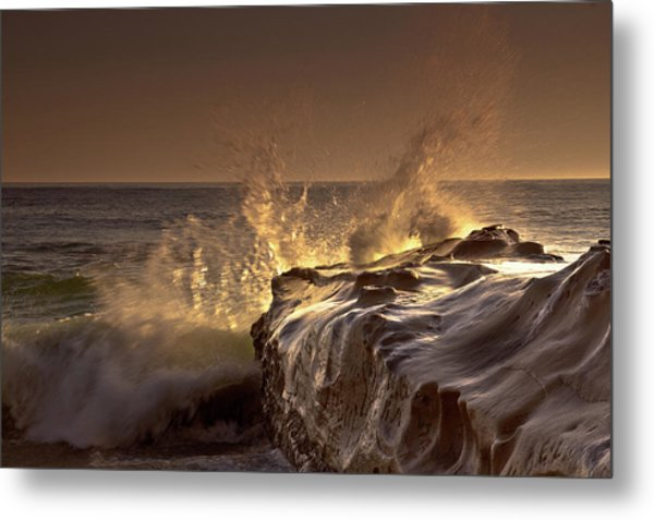 Gilded Eruption Metal Print
