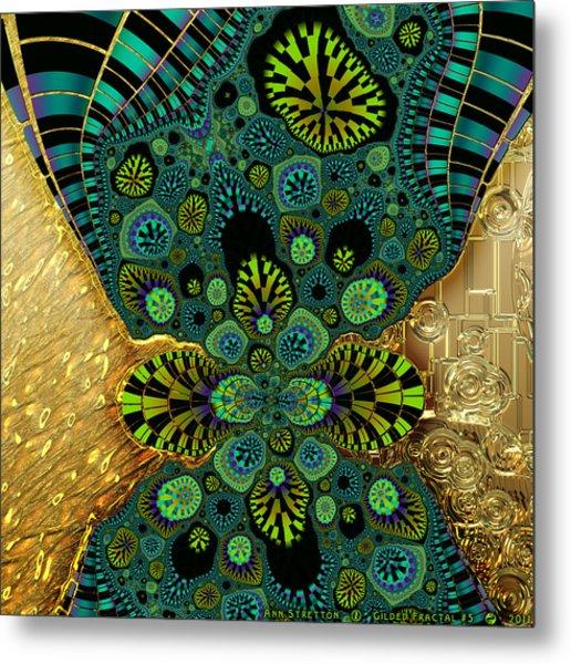 Gilded Fractal 5  Metal Print
