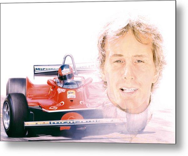 Gilles Villeneuve  Ferrari T5  1980 Metal Print by Alberto Ponno