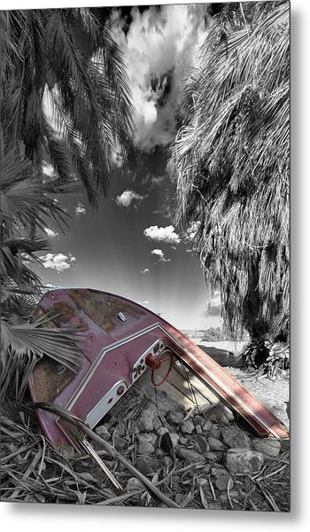 Gilligans Island Black And White 2 Metal Print