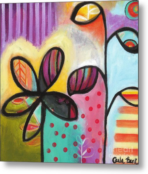 Metal Print featuring the painting Gimme Shelter by Carla Bank