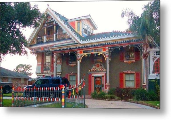 Gingerbread House - Metairie La Metal Print