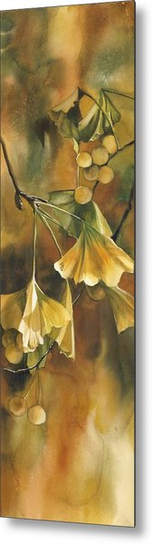 Gingko In Autumn Metal Print