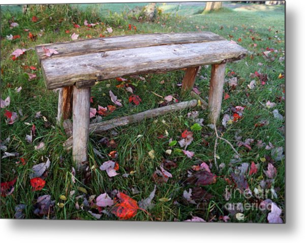 Ginny's Bench Metal Print