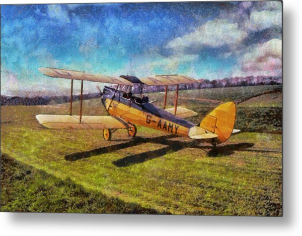 Metal Print featuring the digital art Gipsy Moth by Paul Gulliver