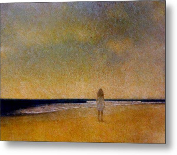 Girl On A Beach Metal Print