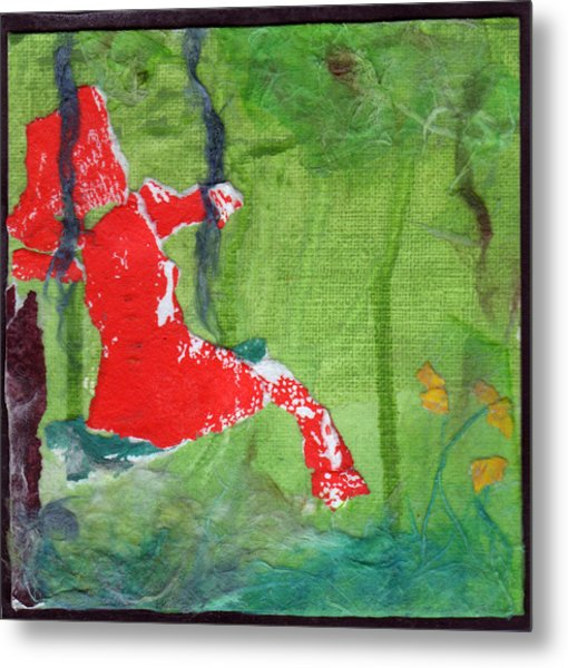 Girl On A Swing Metal Print