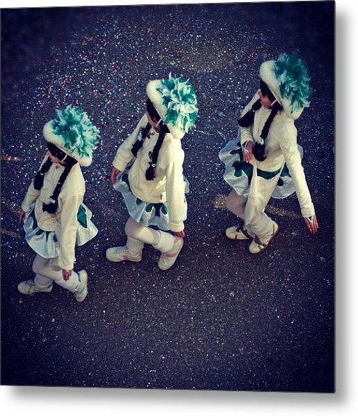 Girls Marching In A Row Metal Print