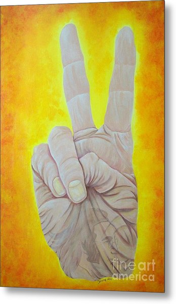 Give Peace A Chance. By Richard Brooks. Metal Print