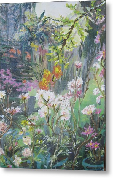 Giverny In Autumn Metal Print