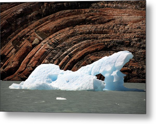 Glacial Groove Marks Metal Print by Steve Allen/science Photo Library