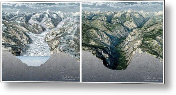 Glacier-carved Kings Canyon Metal Print