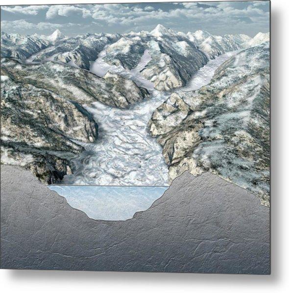 Glacier-filled Kings Canyon Metal Print