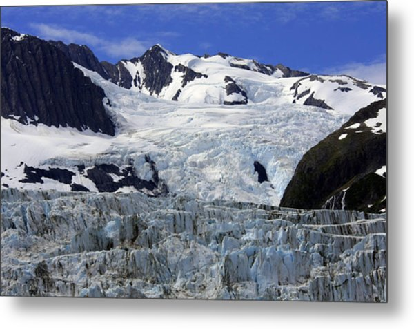 Glacier From Up High Metal Print