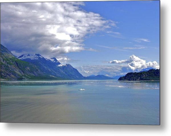 Metal Print featuring the photograph Glacier In Bay  by Ralph Jones