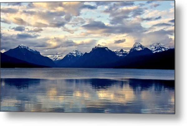 Glacier Morning Metal Print