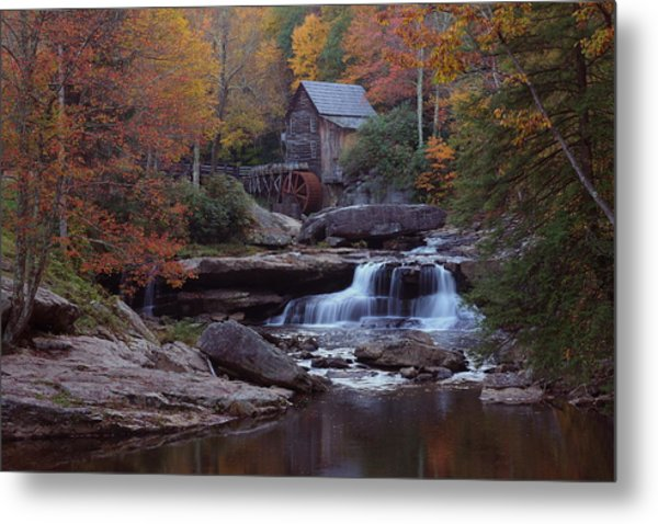 Glade Creek Grist Mill In Autumn Metal Print
