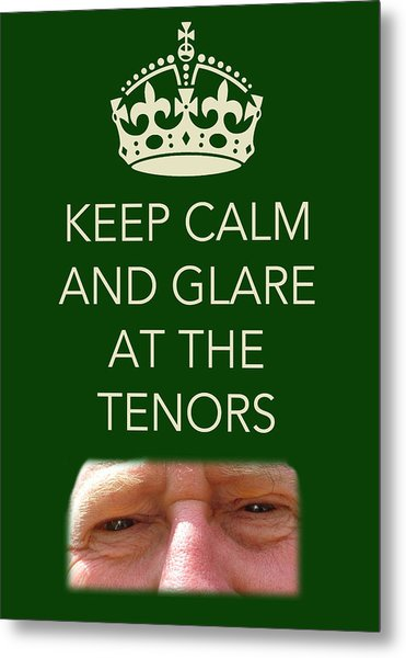 Glare At The Tenors Metal Print
