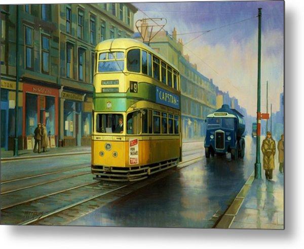 Glasgow Tram. Metal Print