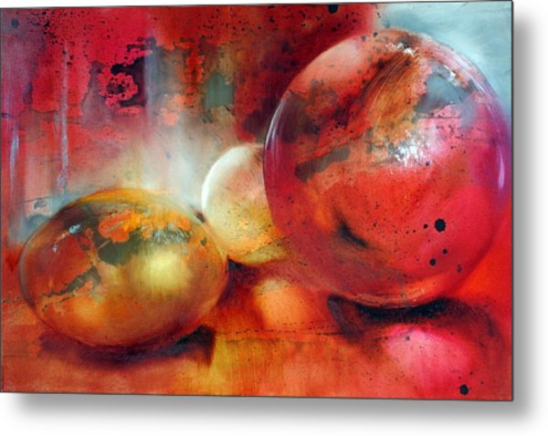 Glass Beads Metal Print