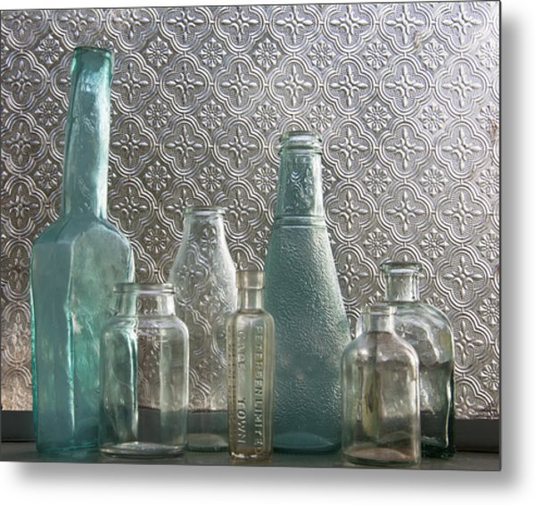 Glass Bottles 2 Metal Print