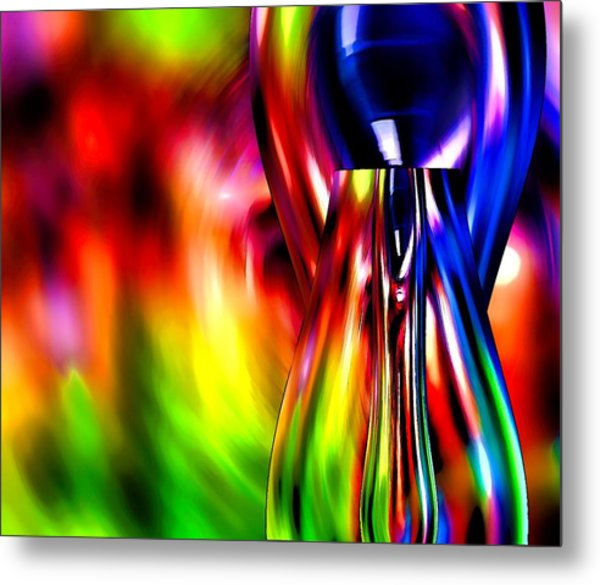 Glass In Motion Metal Print