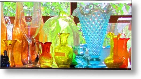 Glass In Sunlight Metal Print by Jeanne Porter