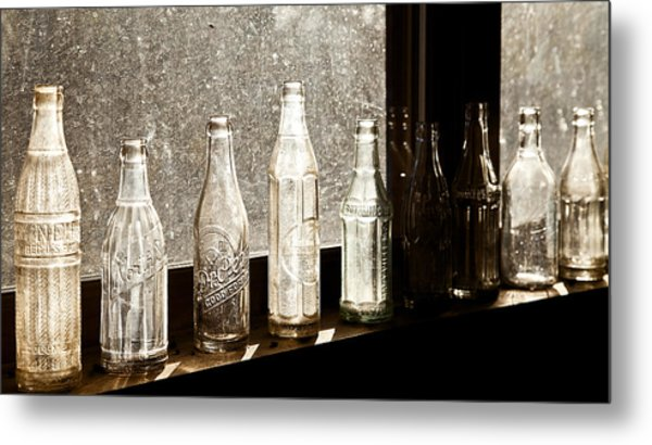 Glass In The Window  2 Metal Print