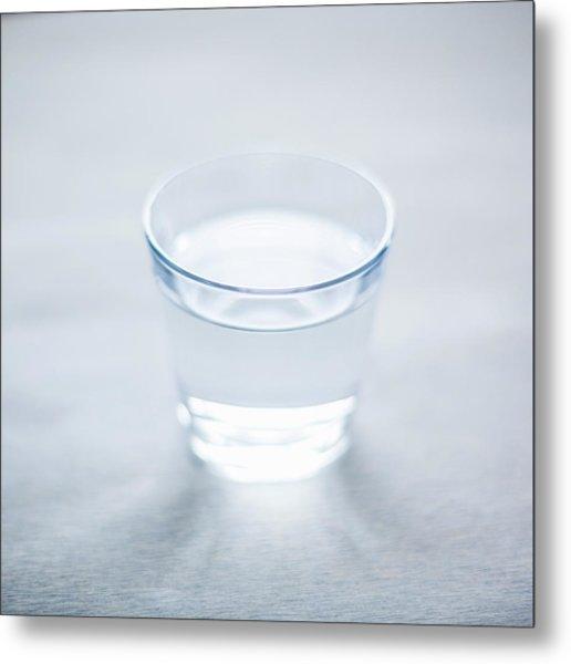 Glass Of Water Metal Print by Steven Errico