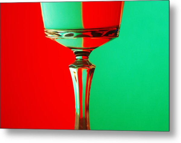 Glass Reflection Metal Print