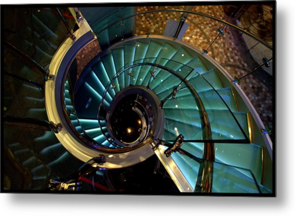 Glass Stairwell Metal Print