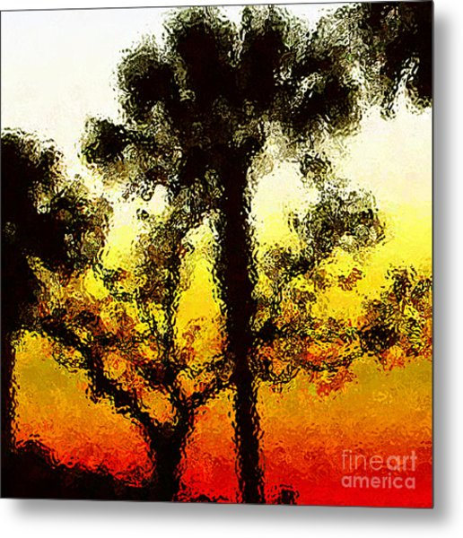 Glass Sunset Metal Print by Gayle Price Thomas