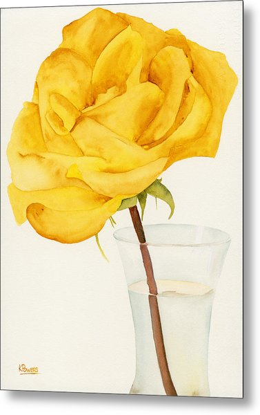 Metal Print featuring the painting Glass Vase And Rio Samba by Ken Powers