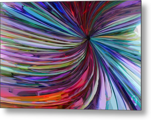 Glass Wave Metal Print