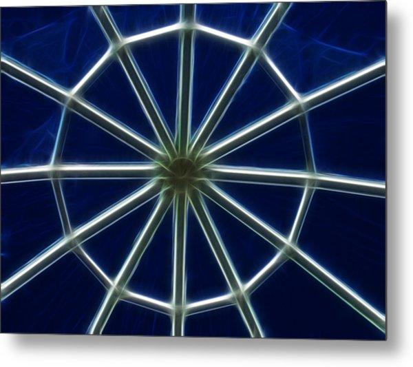 Glass Web Metal Print