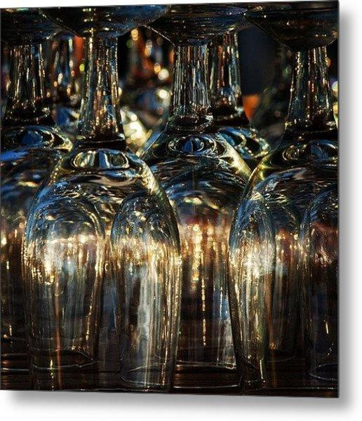 Glasses Metal Print