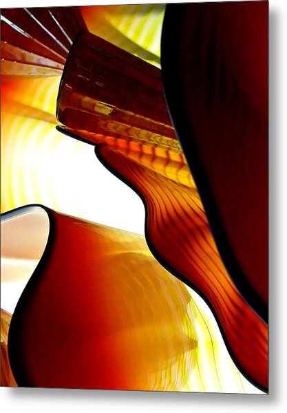 Glassware Abstract Metal Print