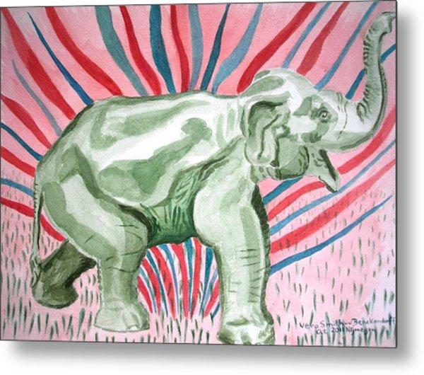 Gleeful Elephant Metal Print