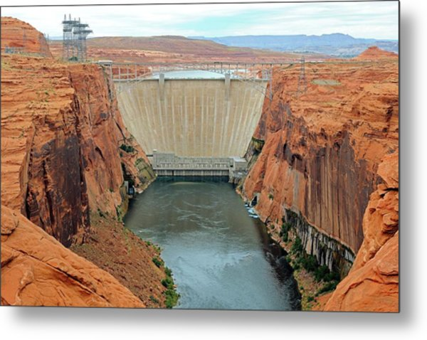 Glen Canyon Dam Metal Print by Bildagentur-online/mcphoto-schulz