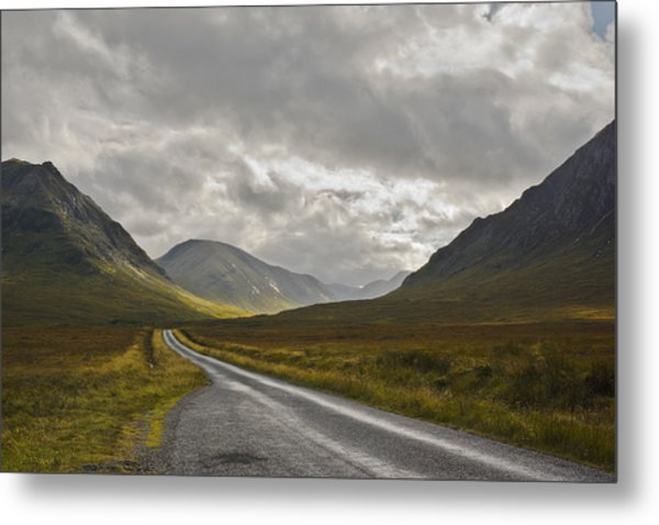 Glen Etive In The Scottish Highlands Metal Print by Jane McIlroy