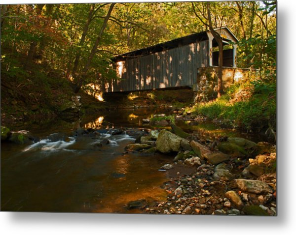 Glen Hope Covered Bridge Metal Print