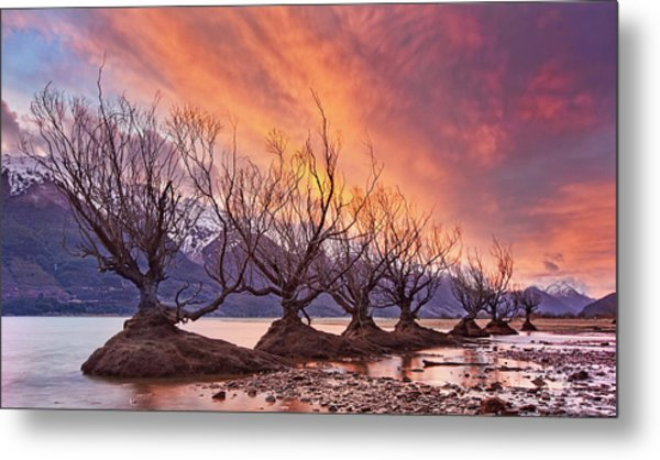 Glenorchy On Fire Metal Print