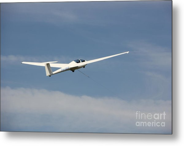 Glider In The Sky Metal Print
