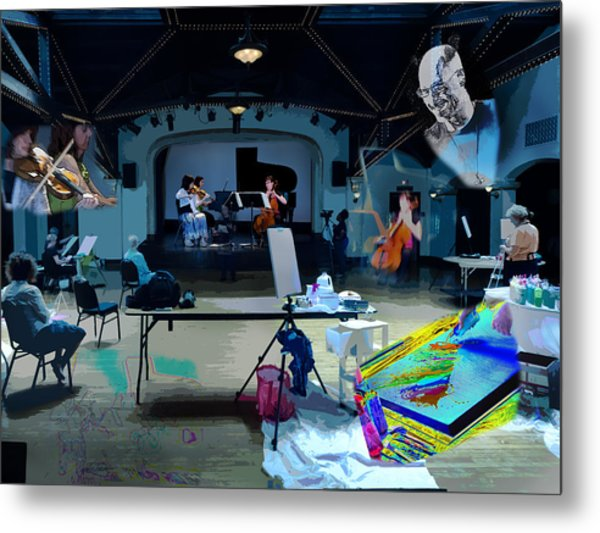 Metal Print featuring the photograph Glisten Rehearsal by David Coblitz