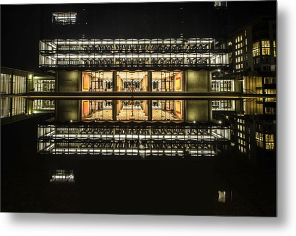 Glorious Modern Architecture At Night Metal Print