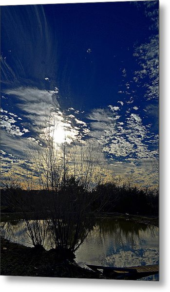Glorious Reflection Metal Print by Kelly Kitchens