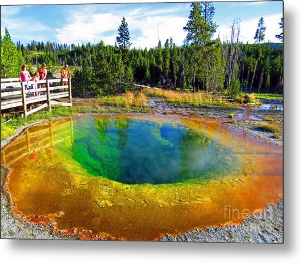 Glory Pool Yellowstone National Park Metal Print