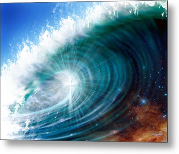 Glory Waves Metal Print